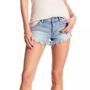 Free People cut off shorts sz 27